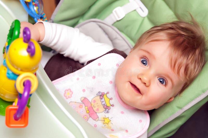 Amazed baby girl royalty free stock photos