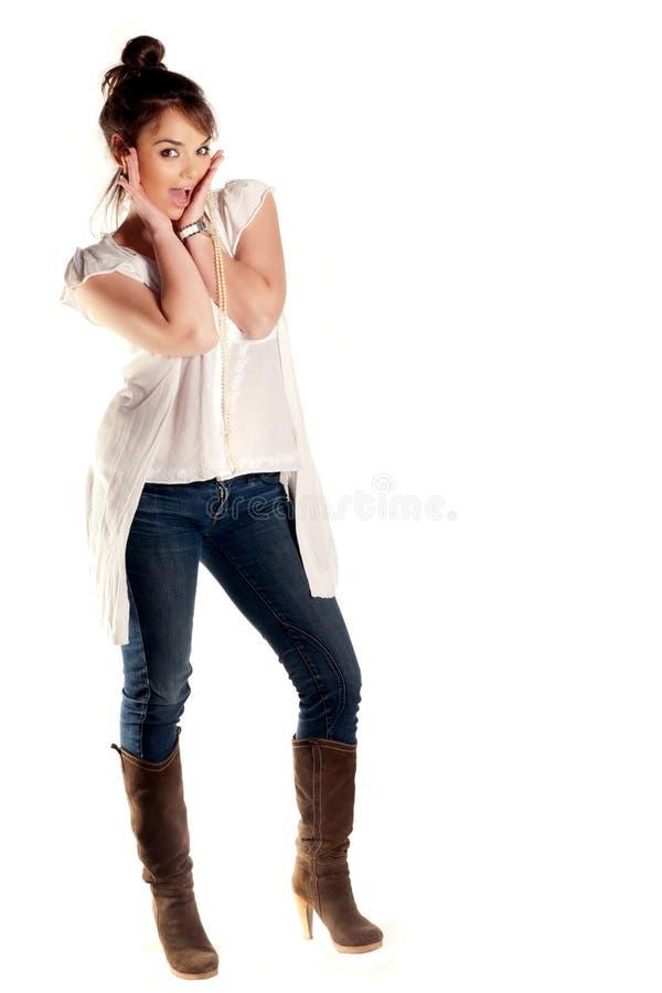 Amazed Girl Stock Image