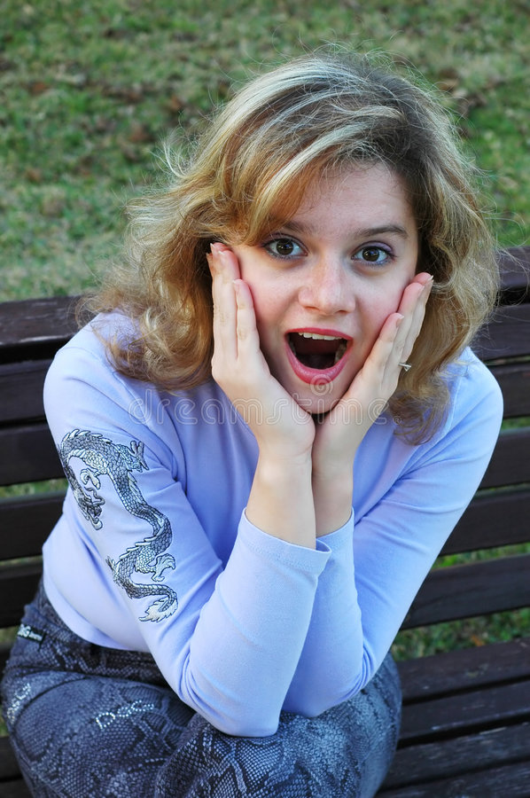 Download Amazed girl stock image. Image of people, pretty, mouth - 583259