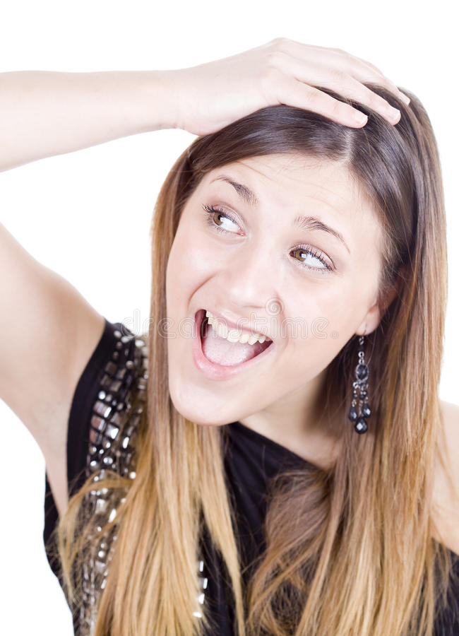 Amazed happy girl
