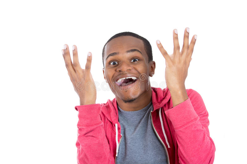 Download Amazed And Happy Handsome Black Guy Stock Image - Image: 35149075
