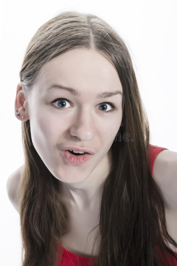 Download Amazed Natural Looking Teen Girl Stock Photography - Image: 30486242