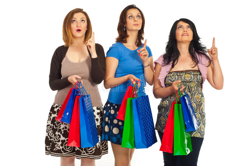 Download Amazed Shoppers Women Looking Up Stock Photo - Image: 19684002