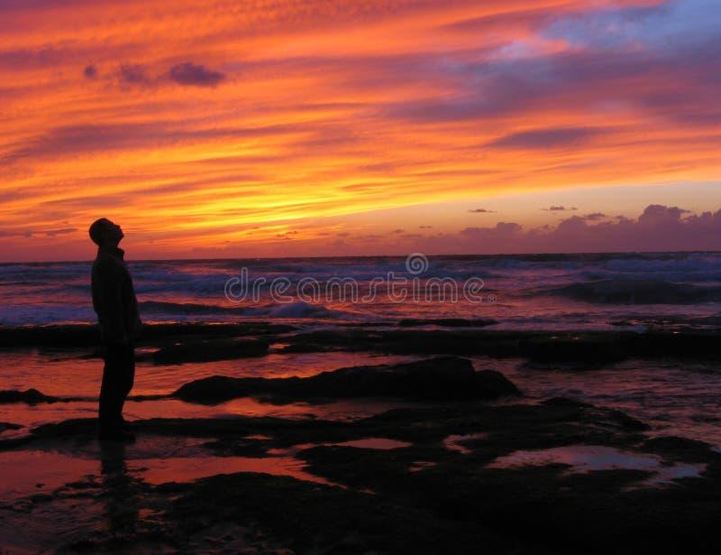 Amazed by sunset royalty free stock photography