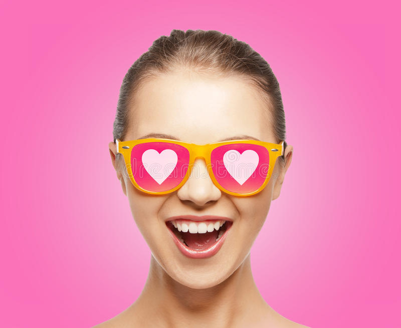 Download Amazed Teen Girl In Sunglasses Stock Image - Image: 37159871