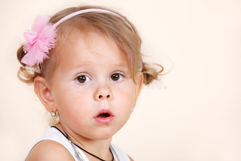 Download Amazed toddler girl stock photo. Image of caucasian, pretty - 21149392
