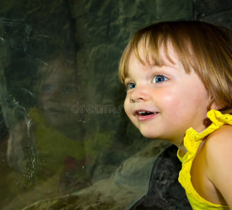 Amazed Two Year Old stock image