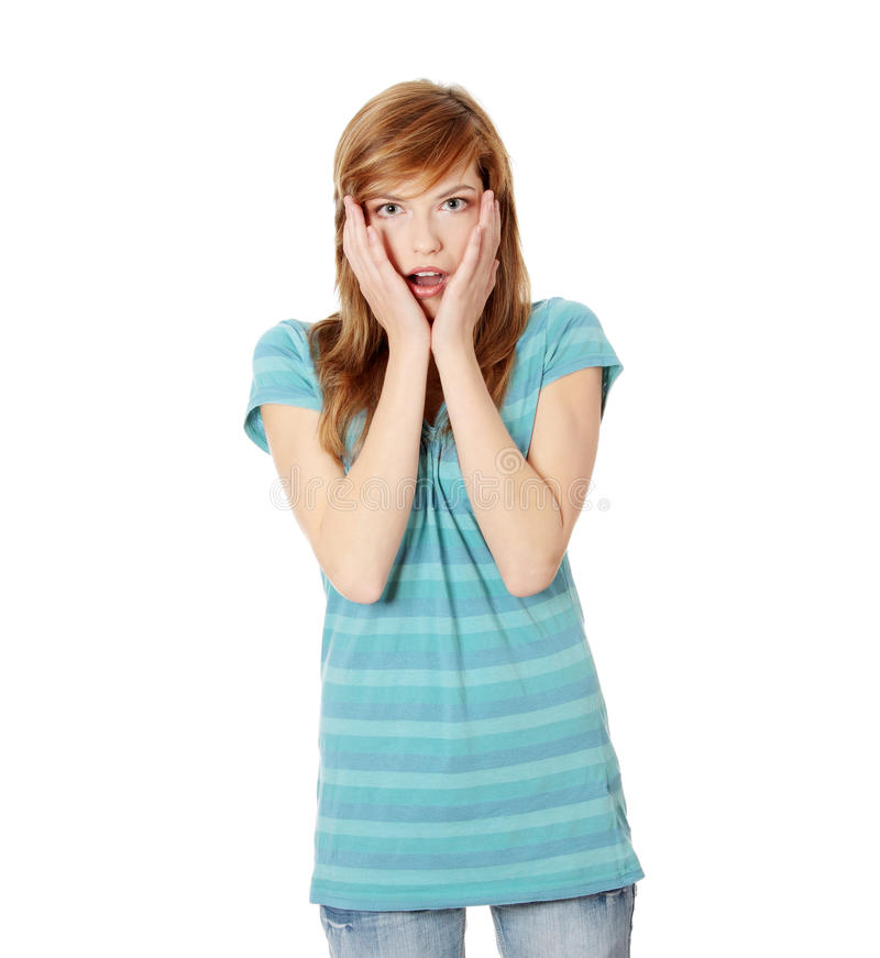 Download Amazed woman stock image. Image of amazed, college, attractive - 16963477