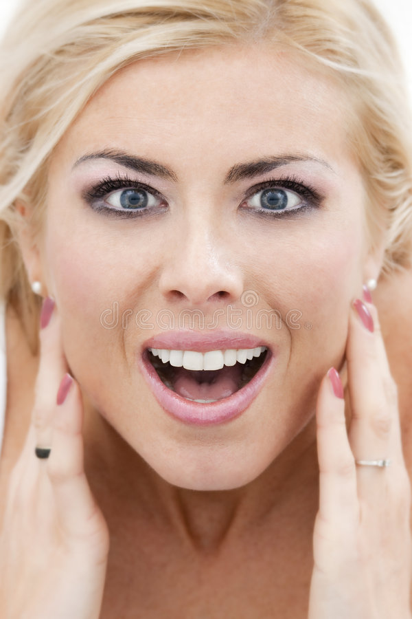 Download Amazed woman stock photo. Image of ethnicity, blonde, expressing - 8612804