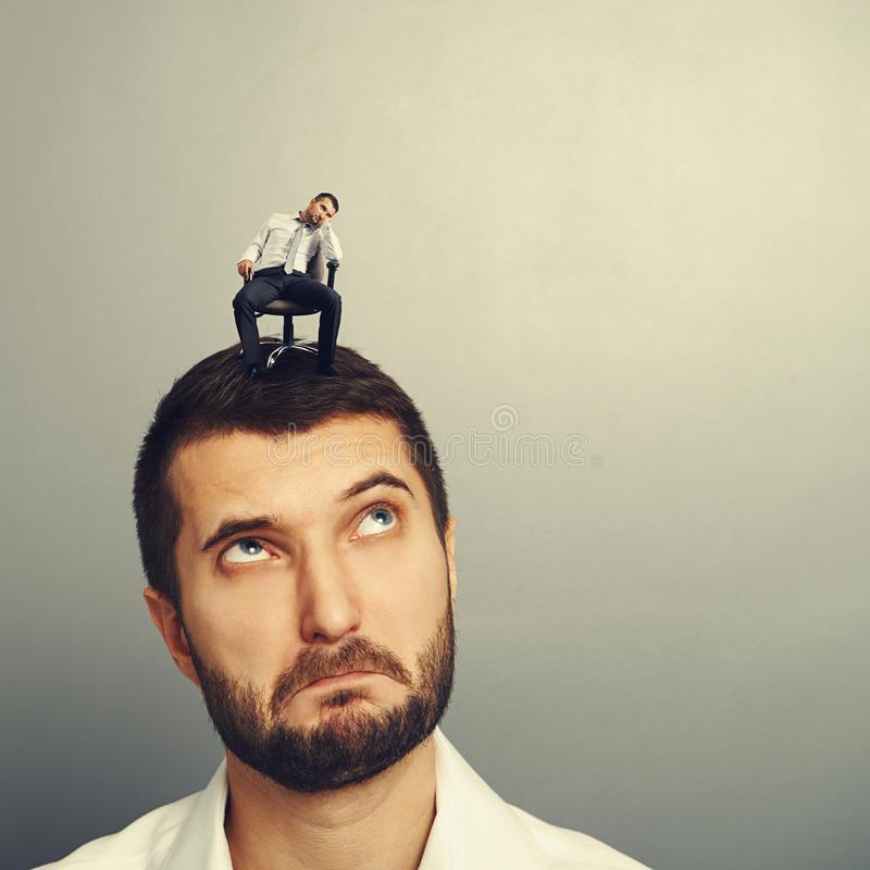Download Amazed Young Man Looking At Bored Man Stock Photo - Image: 37082498