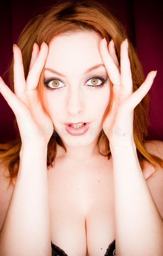 Download Amazed young woman stock image. Image of astonishment - 23814339
