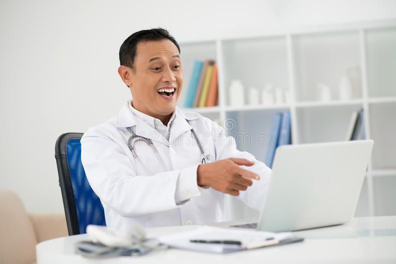 Download Amazement stock image. Image of clinic, physician, pointing - 28054991