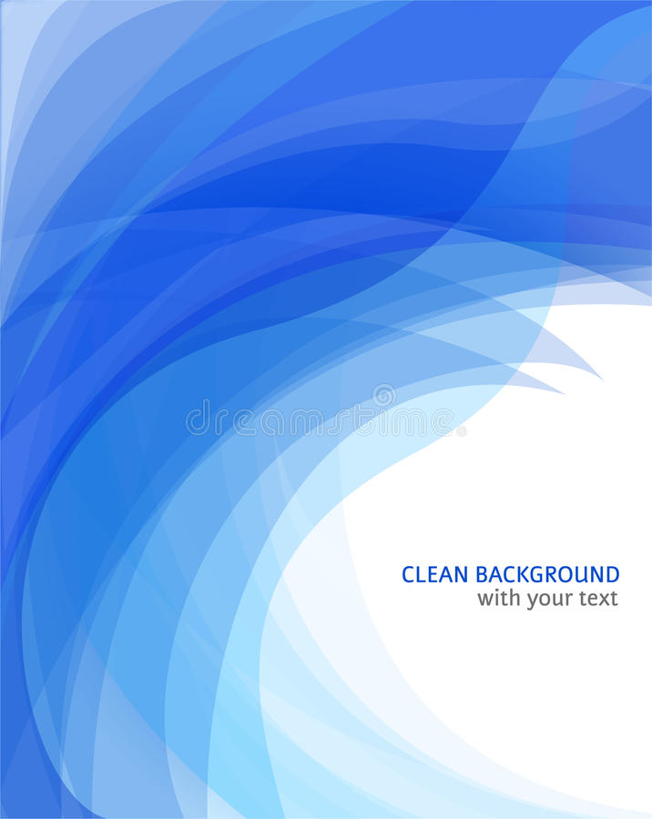 Amazing abstract blue wave background royalty free illustration