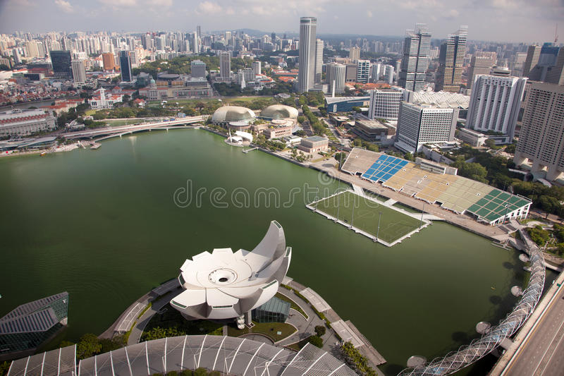Amazing aerial city views from Singapore. royalty free stock photography