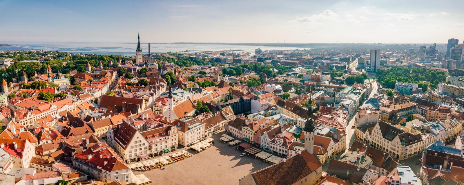 Beautiful old medieval town in Estonia. royalty free stock image