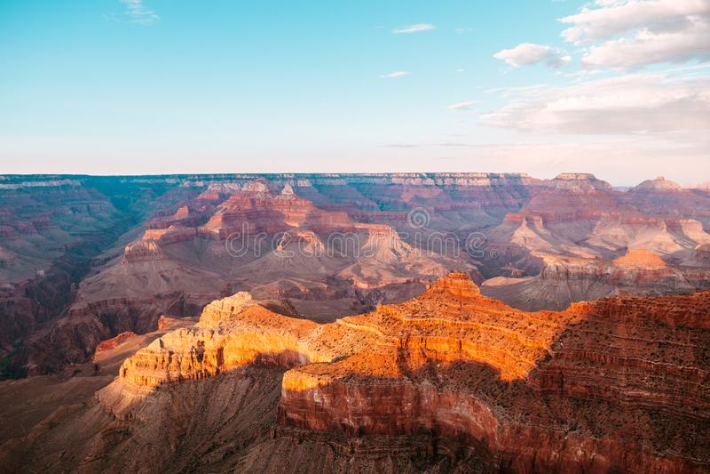 Aerial view of grand canyon national park, arizona stock photo