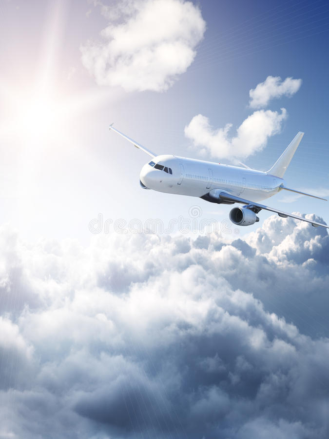 Amazing Aircraft in the sky royalty free stock image