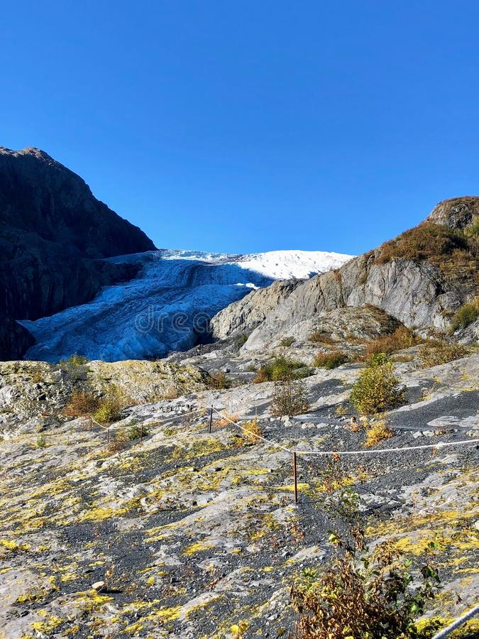 Amazing Alaska glacier views. Of Exit glacier outside Seward, Alaska stock images
