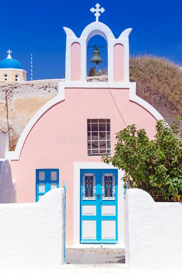 Architecture Of Oia Village On Santorini Island Royalty Free Stock Photography