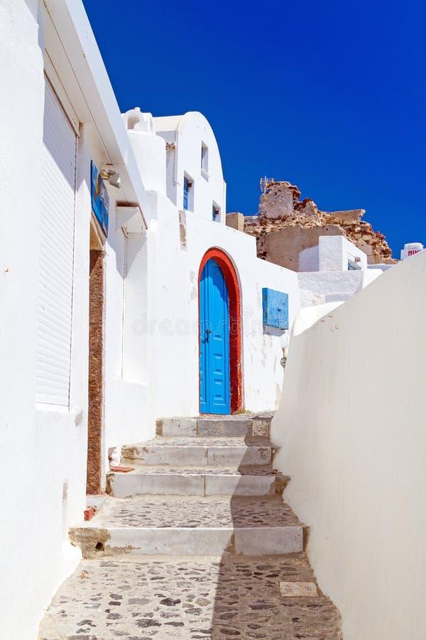 Architecture Of Oia Village On Santorini Island Royalty Free Stock Photo