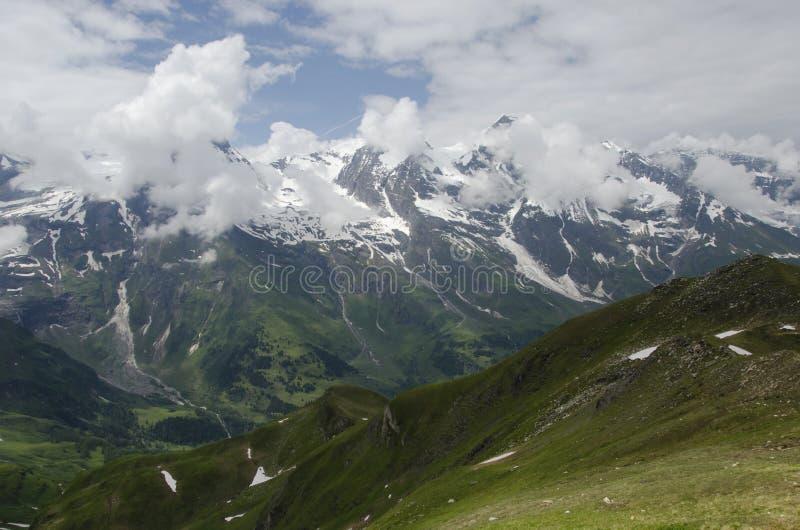 Amazing Austrian Landscape of the alps. Amazing Austrian Landscape of alps mountains at Grossglockner royalty free stock photos