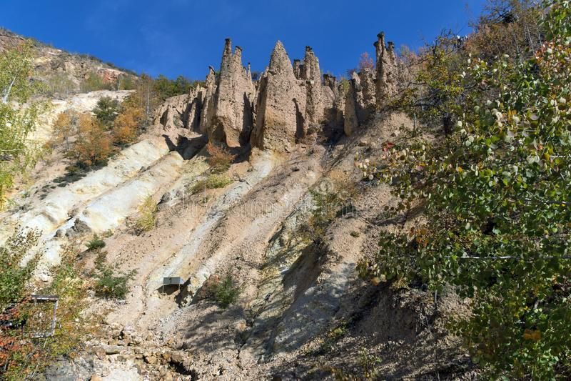 Autumn Landscape of Rock Formation Devil`s town in Radan Mountain, Serbia. Amazing autumn landscape of Rock Formation Devil`s town in Radan Mountain, Serbia royalty free stock photos