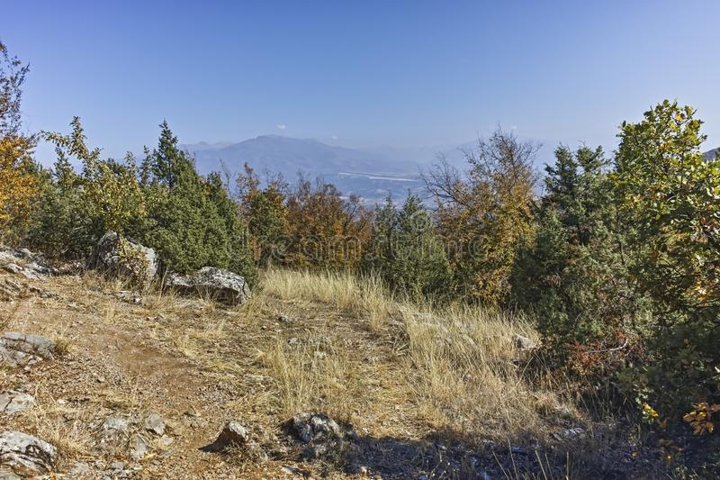 Amazing Autumn landscape of Ruen Mountain, Bulgaria royalty free stock photos