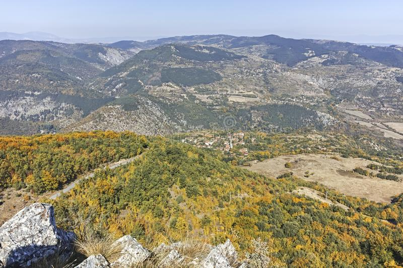 Amazing Autumn landscape of Ruen Mountain, Bulgaria royalty free stock photography