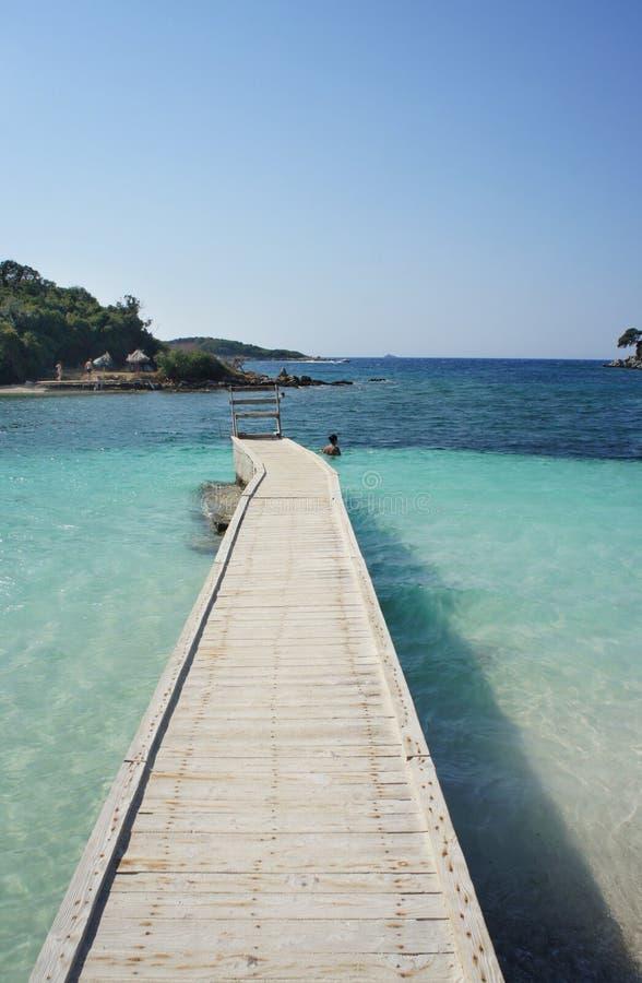 Amazing beaches of Ksamil, Albania. Amazing beaches and nature of Ksamil, Saranda, Albania royalty free stock photos