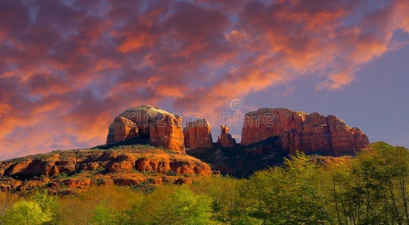 The amazing Beautiful cathedral rock near Sedona royalty free stock photo