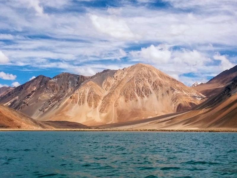 Beautiful lake in the mountain nature panorama horizon landscape stock photography