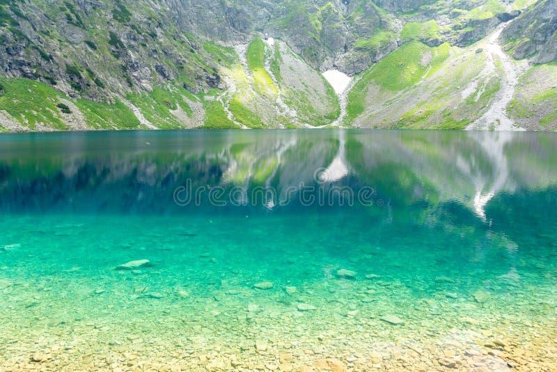 Amazing Black Pond polish: czarny staw in Zakopane, High Tatra mountains, Poland. Amazing lake in Tatra mountains on polish side royalty free stock photography
