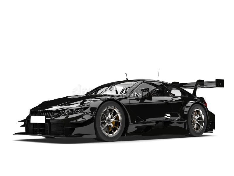 Amazing black super car - beauty shot stock illustration