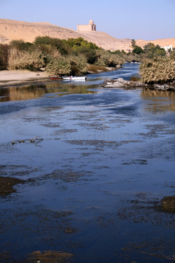 Download Amazing Blue Nile With Two Small Boats In Focus Stock Image - Image: 1825349