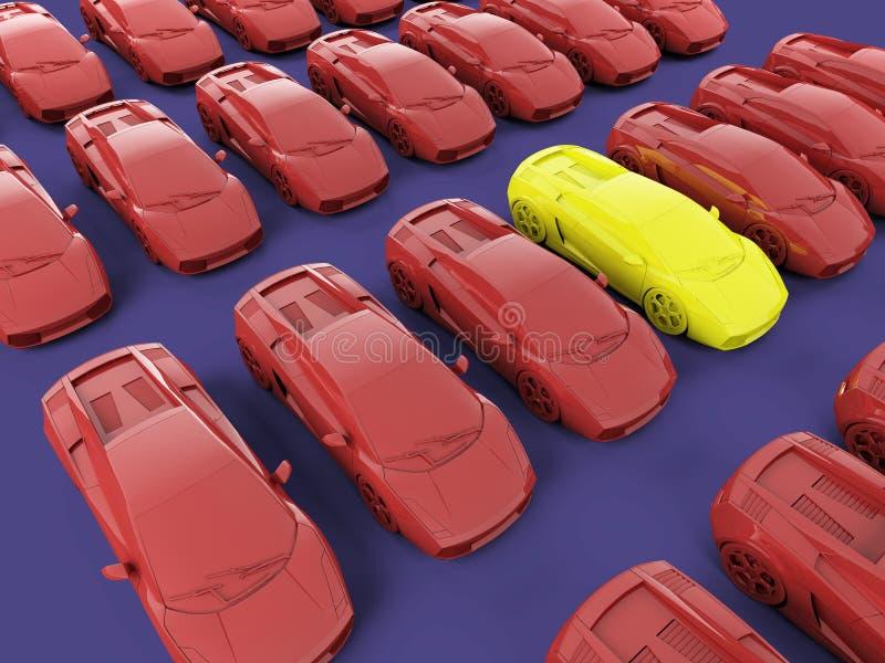 Amazing car royalty free illustration
