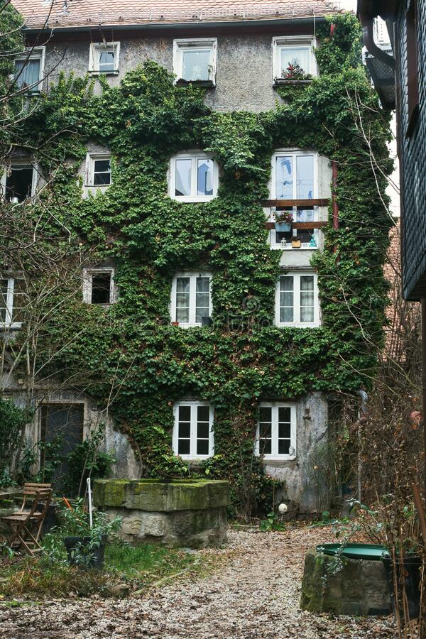 The amazing city of Fuerth, Franconia. Bavaria Ancient German apartment buildings and cathedrals. Furth, Germany, January 2020. The amazing city of Fuerth stock photos