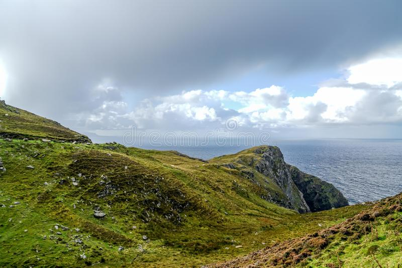 Amazing Cliffs of Slieve League. The amazing cliffs of Slieve League near Carrick Ireland royalty free stock images