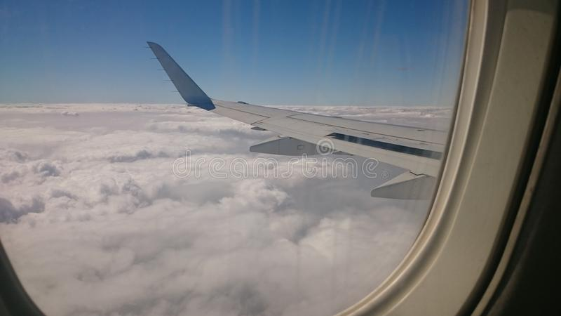 Amazing clouds view from above in Egypt royalty free stock photo