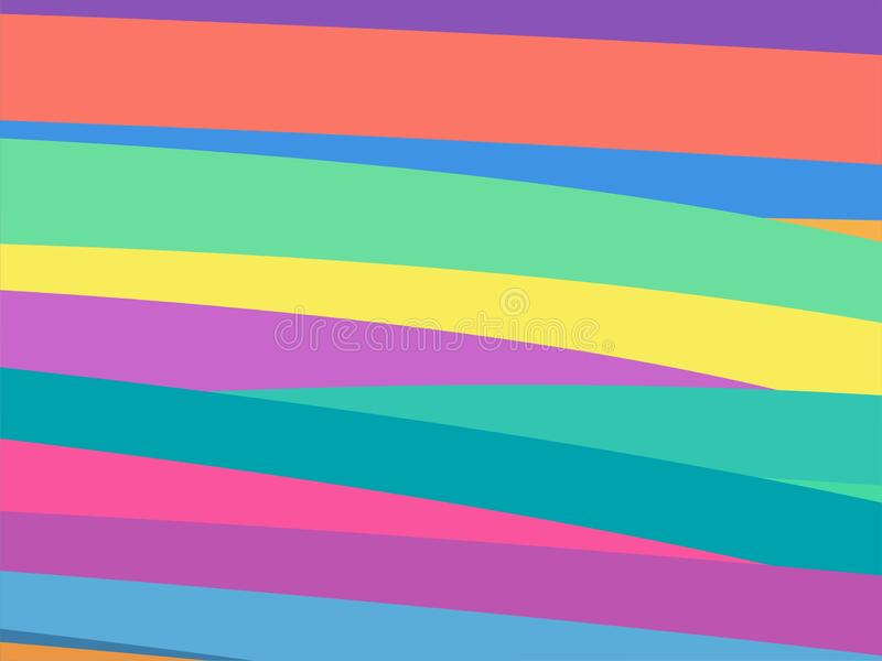 The Amazing of Colorful Art, Abstract Modern Shape Background or Wallpaper royalty free illustration