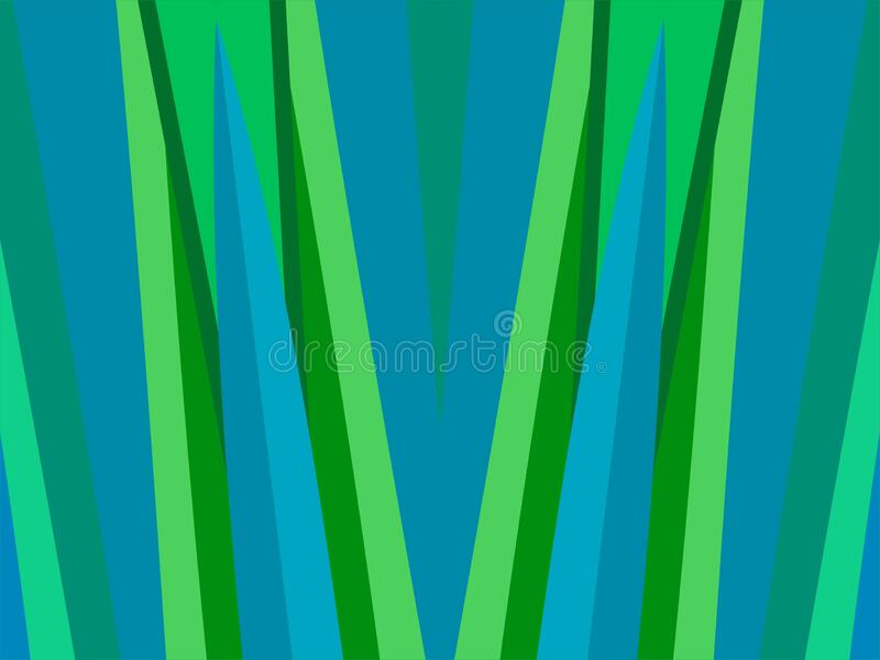 The Amazing of Colorful Art Blue and Green, Abstract Modern Shape Background or Wallpaper royalty free illustration