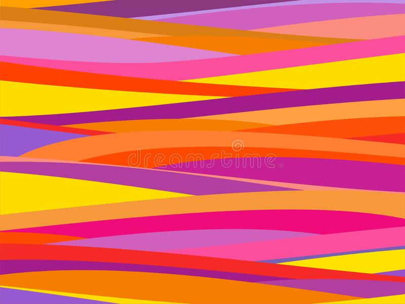 The Amazing of Colorful Art Pink, Red, Orange and Purple, Abstract Modern Shape Background or Wallpaper royalty free illustration