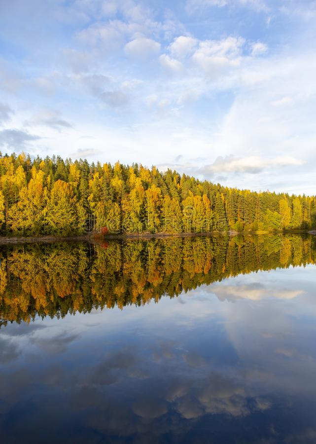 Amazing and colorful autumn day in Finland. stock images
