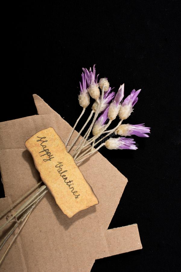 Amazing colorful dry flowers for valentines day stock photos