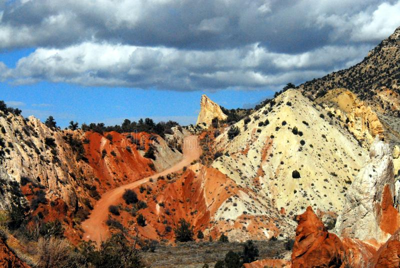 Utah- Beautifully Colorful Hills Near Grosvenor Arch stock photography