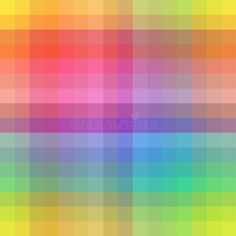The Amazing of Colorful Square Pattern Wallpaper stock illustration