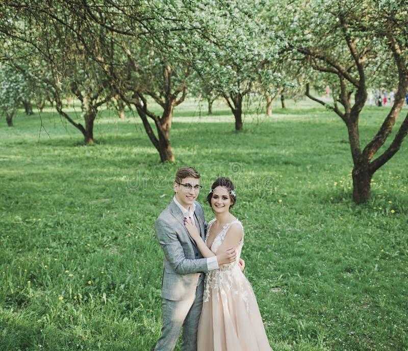 Amazing couple outdoors stock images