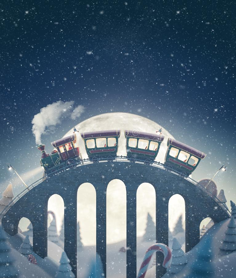 Free Amazing Cute Christmas Train Stock Images - 162128364