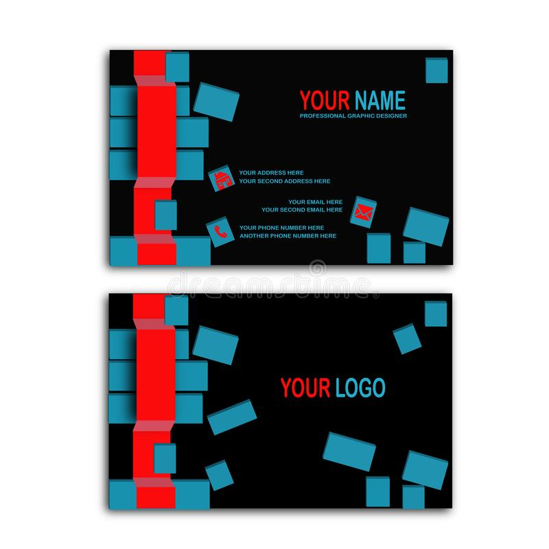 3d cube business card stock vector illustration of design 99416474 amazing 3d with stylish and modern concept business card for your business or personal use colourmoves