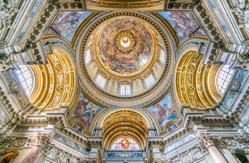 The Amazing Dome With `The Apotheosis Of Saint Agnes Into