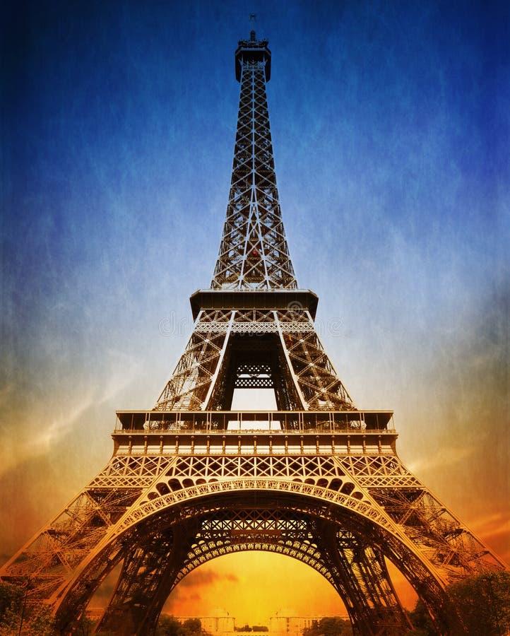 Amazing Eiffel Tower stock photography